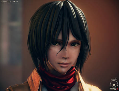Mikasa Ackerman (Real-time rendering test)