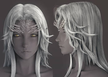 Dark Souls - Crossbreed Priscilla(wip3) by tetsuok9999