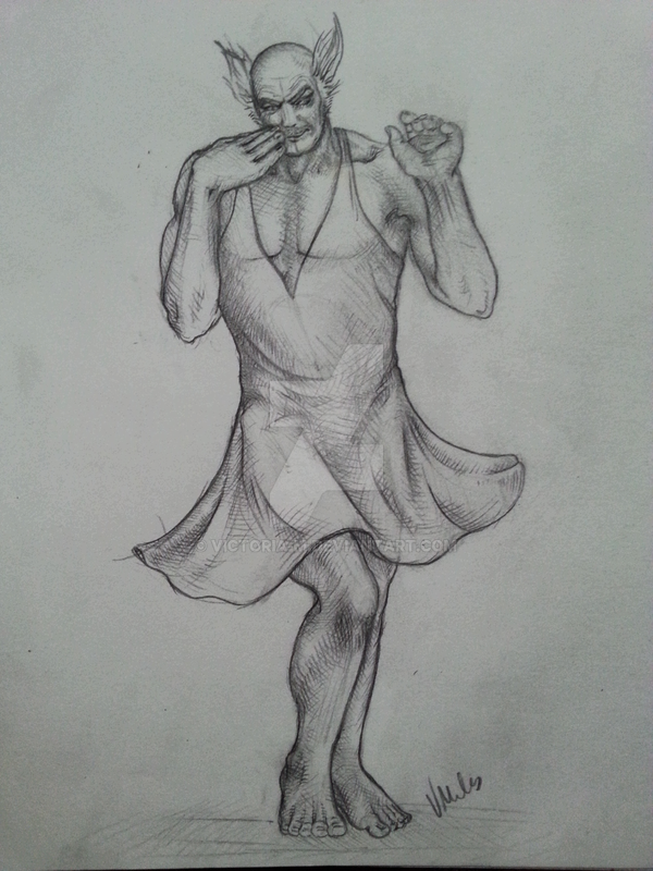 Heihachi Mishima in a sexy dress by Victoria-M