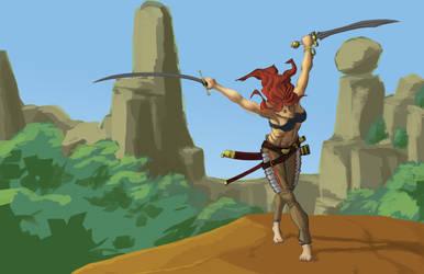 Female warrior by gunjackvalentine