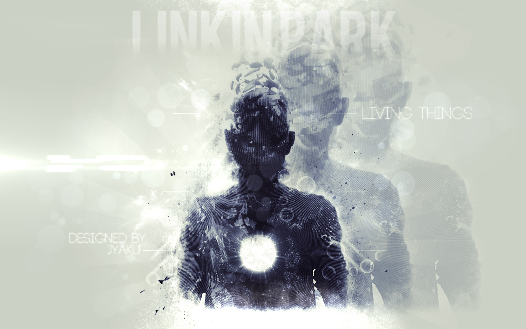 Linkin Park Living Things Desktop Wallpaper by JyakuDesigns