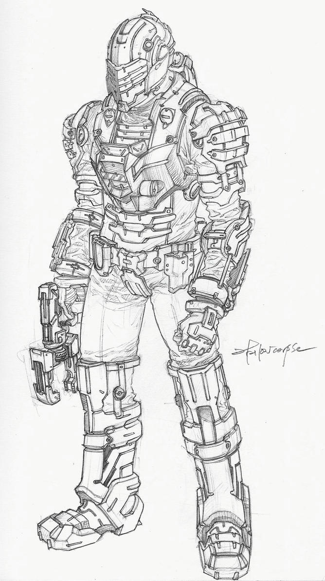 space suit drawing - photo #17