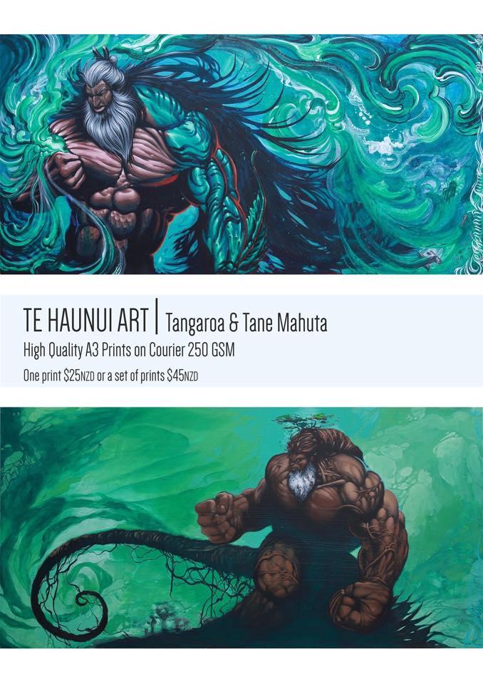 Maori Mythology: Atua Prints/Maori Gods By TeHaunuiArt On DeviantArt