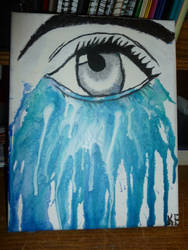 Melted Crayon Art- Crying Eye by MidnaWolf6658