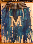 Melted Crayon Art with a M initial