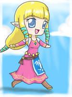 Skyward sword Zelda Chibi by ZantsDinner