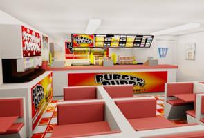 Burger Buddy Fast Food Design by vannickArtz