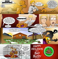 Bad Buddy Comics - Christmas by vannickArtz