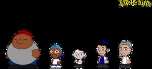 Little Luis Kid Characters by vannickArtz