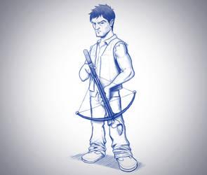 Daryl Sketch by vannickArtz