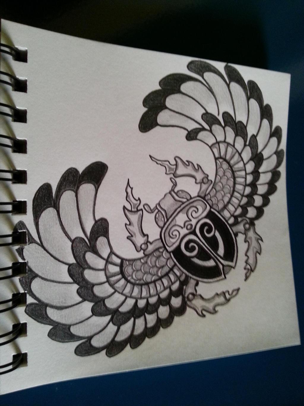 Egyptian scarab by swishalol on deviantart for Scarab tattoo designs