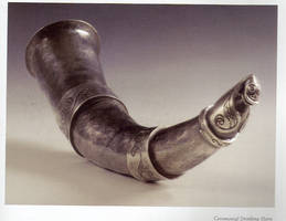 Ceremonial Drinking Horn by smithing-chick