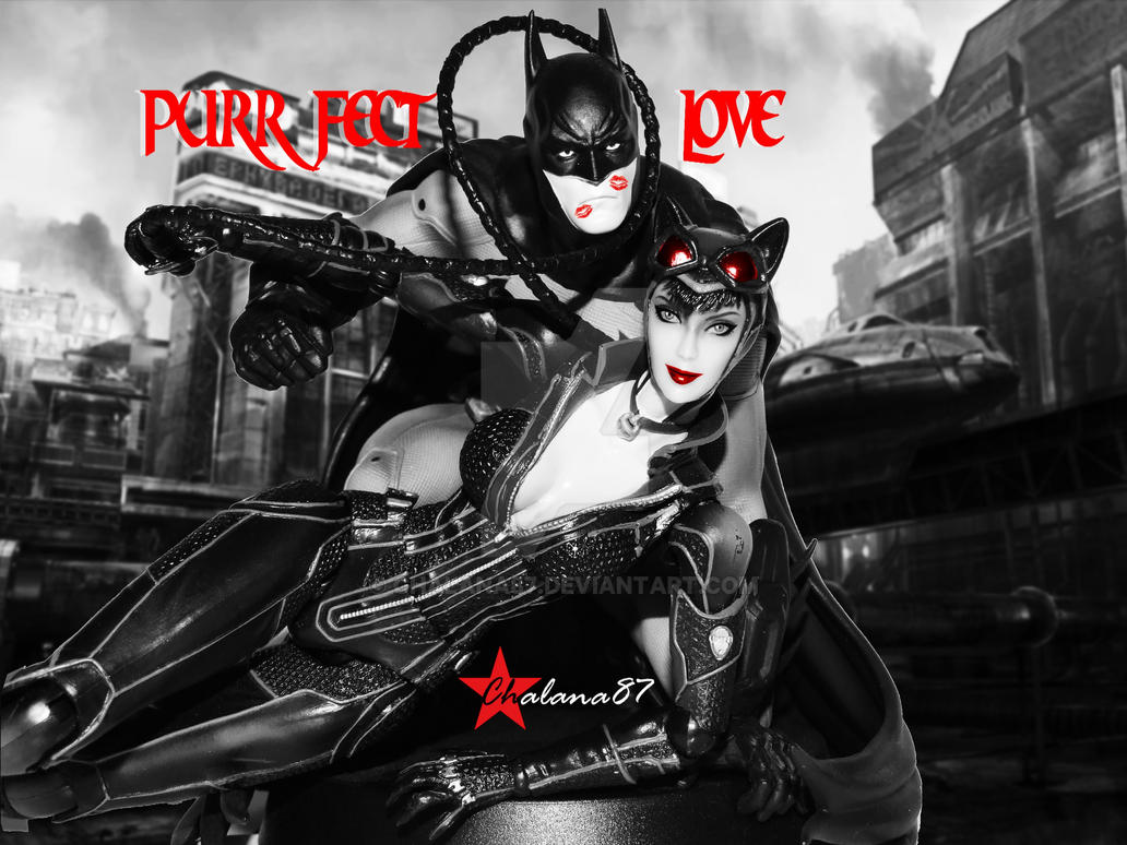 Batman And Catwoman Purrfect Love By Chalana87 On Deviantart