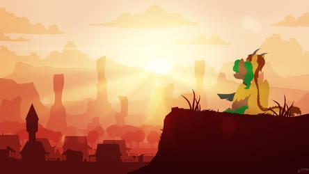 Desert Dawning by SiMonk0