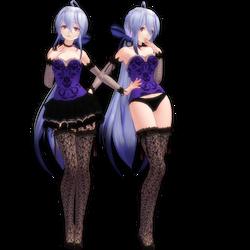 MMD Tda Dress-Lingerie Haku by LadyLukaOwO