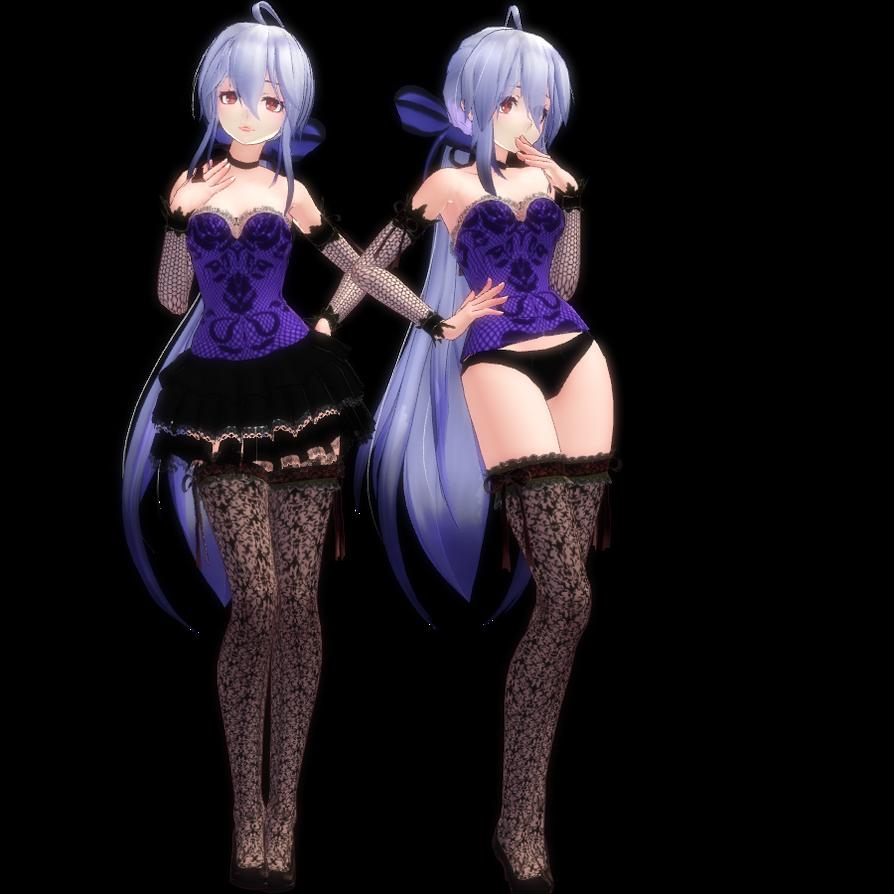Mmd dress models download by hikariwakamiya on deviantart - Mmd Tda Dress Lingerie Haku By Ladylukaowo