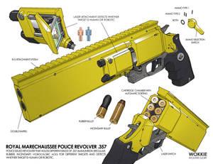 Royal Marechaussee Police Revolver