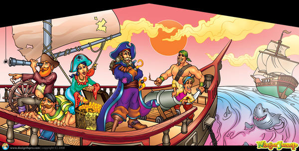 Pirates Art Panel by designfxpro