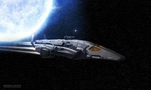 Space Gunship Second view