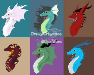 6 Oh Hai's by LilOrangeDragoness