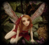 Crimson OOAK FAE by LindaJaneThomas