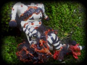 Harlequin Mime Art Doll