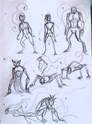 Dark one creature concept Sketch
