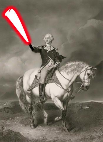 George Washington Lightsaber by heyimcarlk