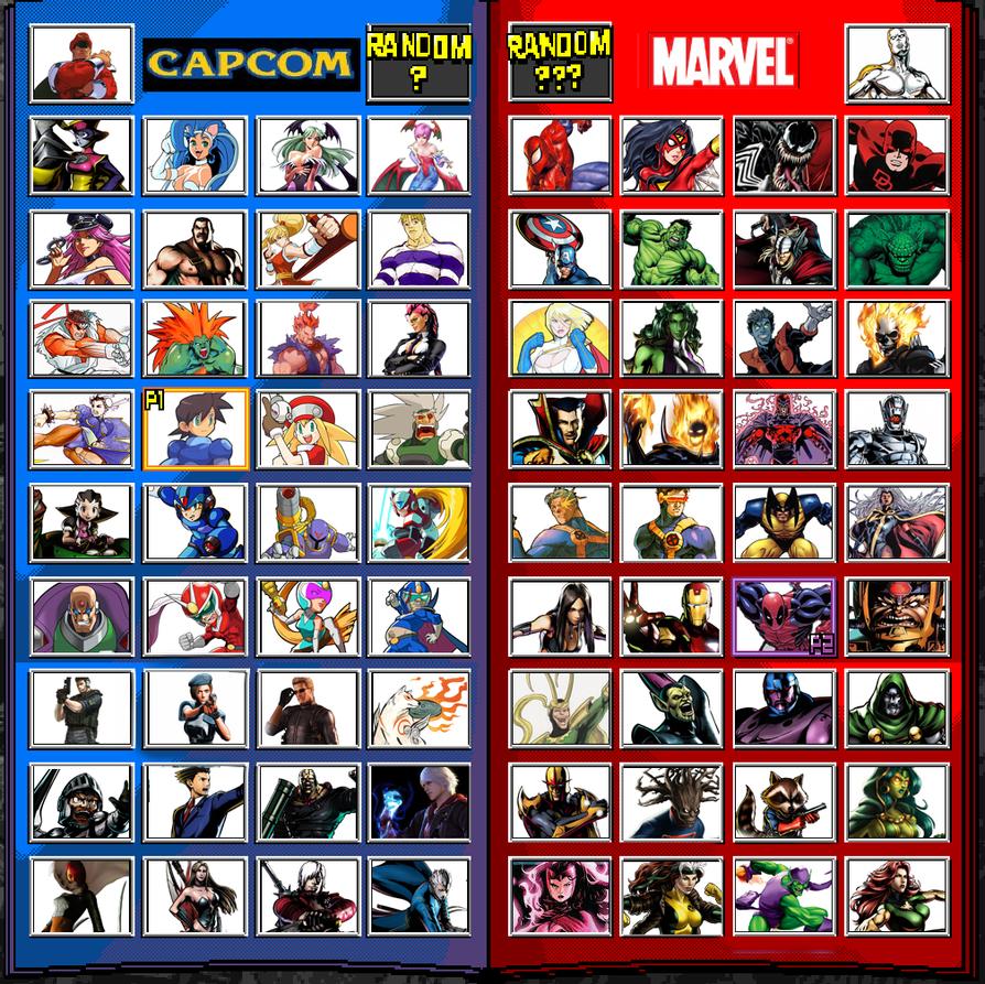 My Marvel vs Capcom 4 Wishlist by JDMiles on DeviantArt