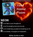 Neon Name Poem by CatGirl1324