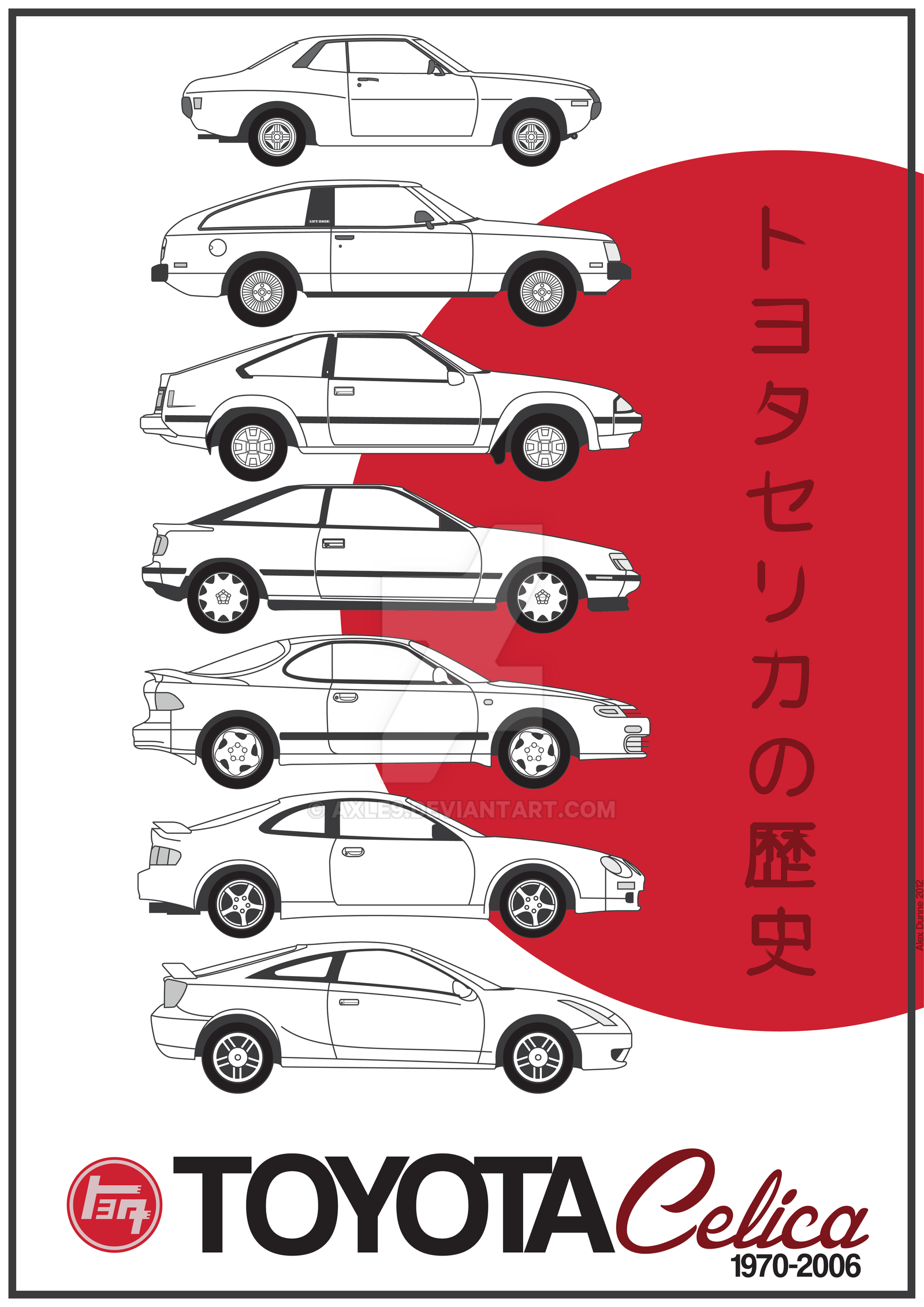 Toyota Celica History By Axle9 On Deviantart