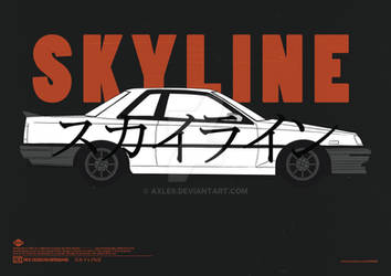 Nissan Skyline R30 Coupe Poster