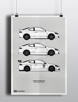 Honda Integra DC5 Poster
