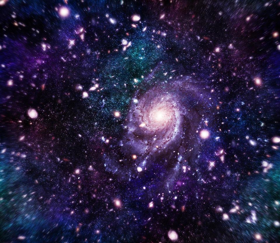green blue purple pink galaxies - photo #28