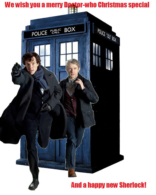 Doctor Who Meets Sherlock christmas card by Lightningbutterflies ...