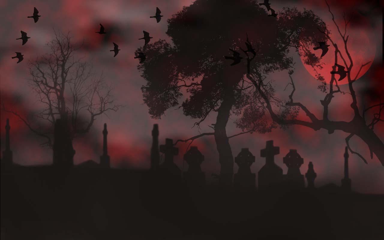 Halloween Graveyard Wallpaper by pedea on DeviantArt