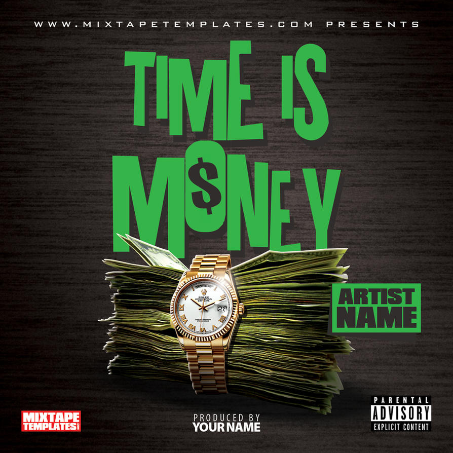 3939time is money3939 mixtape cover template by filthythedesigner on deviantart for Mixtape template