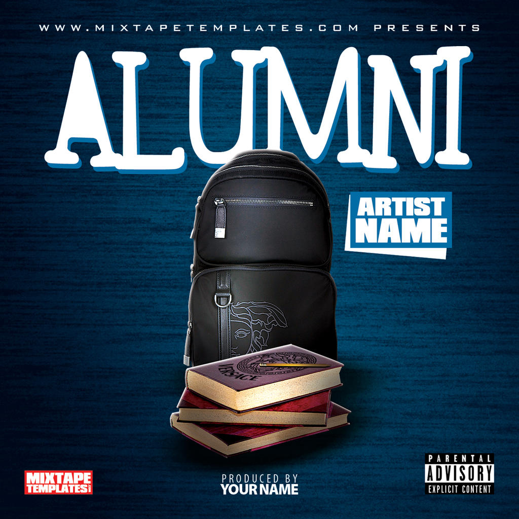 39 39 alumni 39 39 mixtape cover template by filthythedesigner on for Free mixtape covers templates