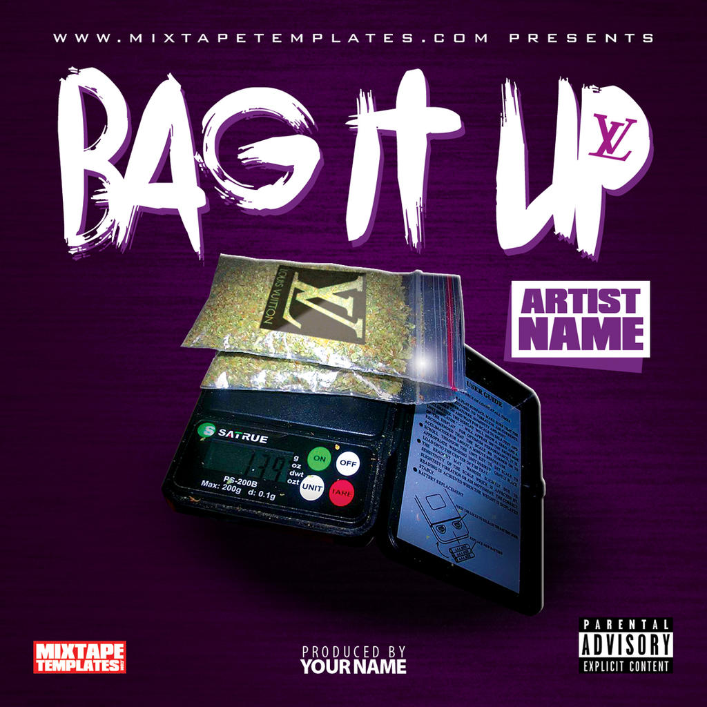 39 39 bag it up 39 39 mixtape cover template by filthythedesigner for Free mixtape covers templates