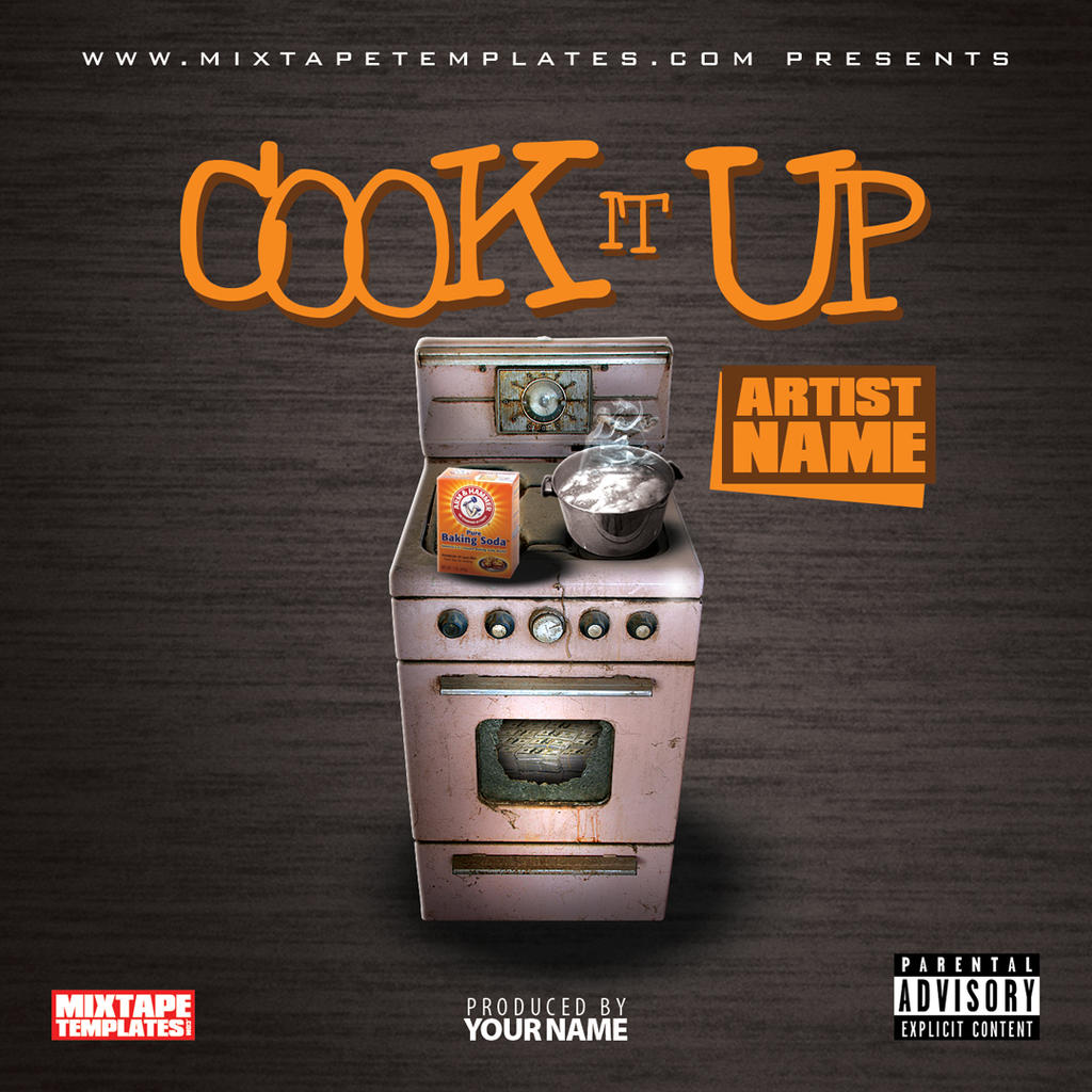 it up mixtape cover template by filthythedesigner