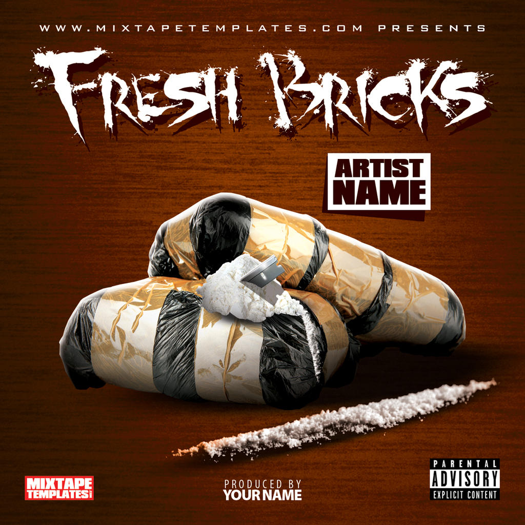 39 39 fresh bricks 39 39 mixtape cover template by for Free mixtape covers templates