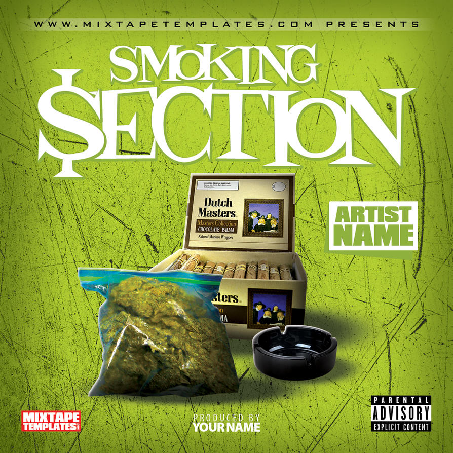 39 39 smoking section 39 39 mixtape cover template by for Free mixtape covers templates