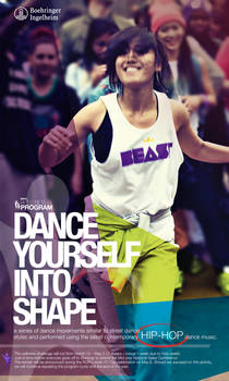 Wellness Program Poster for Hip Hop