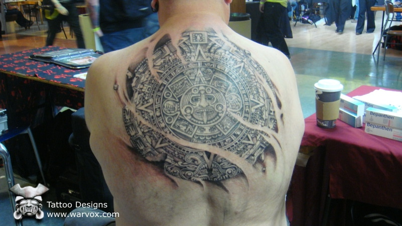 Aztec Calendar Tattoo By Warvox On Deviantart
