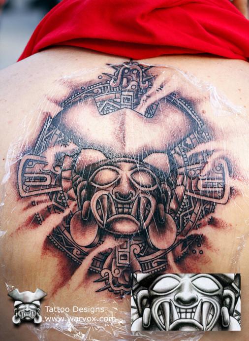Aztec Warrior tattoo d...
