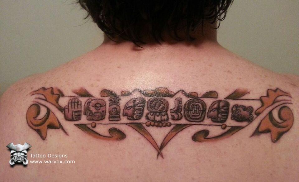 mayan glyphs tattoo design by warvox com by warvox on deviantart. Black Bedroom Furniture Sets. Home Design Ideas
