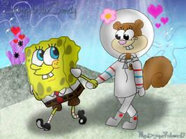 SpongebobxSandy by SSDOGZII