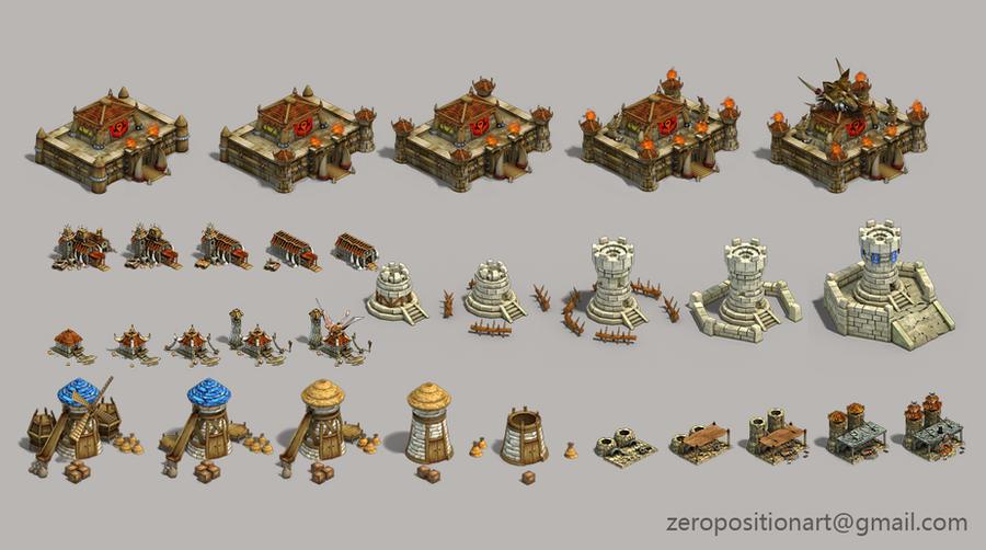 The castle by Zero-Position-Art