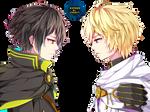 Yuuichirou y Mikaela | Owari no Seraph |Render #13