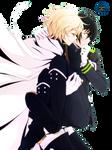 Yuuichirou y Mikaela | Owari no Seraph |Render #20